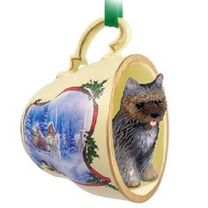 Cairn Terrier Brindle Dog Decorative Sleigh Tea Cup