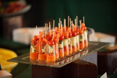 Veggie skewer appetizers from Green & Gold 2013 event! #appetizers #calpoly #slo #universitycatering