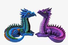 Polymer Clay Elder Dragons by RaLaJessR