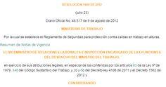 SGSST | Normograma Resolución 1409 DE 2012.