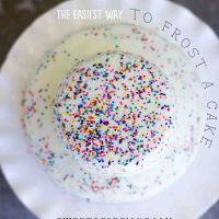 How to frost a professional looking cake with pourable faux fondant in minutes!