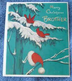 1950S VINTAGE CHRISTMAS GREETING CARD BY BUZZA CARDOZO TO BROTHER NOT USED