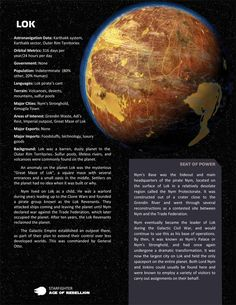 Planets, planets, and more planets - Page 8 - Star Wars: Edge of the Empire RPG - FFG Community Nave Star Wars, Star Wars Rpg, Star Trek, Aliens, Star Wars History, Edge Of The Empire, Planet Design, Starwars, Star Wars Facts