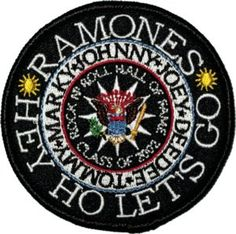 Ramones Presidential Seal Patch *All Embroidered patches can either be sewn or ironed on