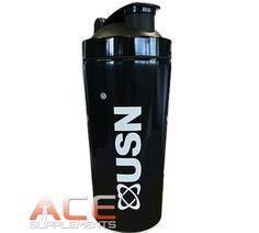 USN Stainless Steel Shaker Protein Mixer Blender Bottle 739ml