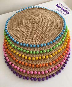 Best 12 Natural Jute Twine Rope Cord, Non-Polished Gift Wrap, Packaging, eco-friendly hemp yarn 100 g 55 Crochet Home Decor, Crochet Crafts, Crochet Projects, Crochet Placemats, Crochet Doilies, Crochet Flower, Crochet Beanie, Knit Crochet, Chrochet