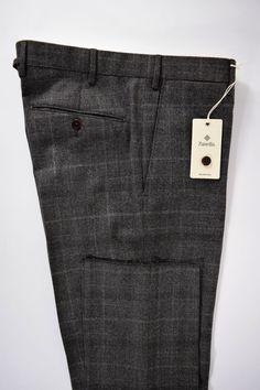 NWT ZANELLA pantalone uomo CLASSICO 100% lana P.D.GALLES A/I tg. 48-50-54(IT)