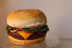 Nathan's Burger - via @Craftsy - hard to believe that this is a cake!