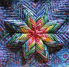 folded star potholder pattern   Folded Star Pot Holder Patterns http://kathleens-sewing.blogspot.com ...