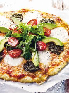 Mozzarella-rucolasalaattipizza (gluteeniton) | Italia | Pirkka #food Vegetarian Paleo, Vegan Foods, Good Food, Yummy Food, Awesome Food, Italy Food, Yummy Eats, Food To Make, Food Photography