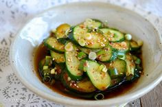 Korean cucumber salad or Oi Muchim