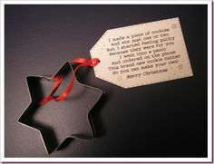 Star cookie cutter - idea for kris kringle