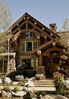 Lodge style exterior