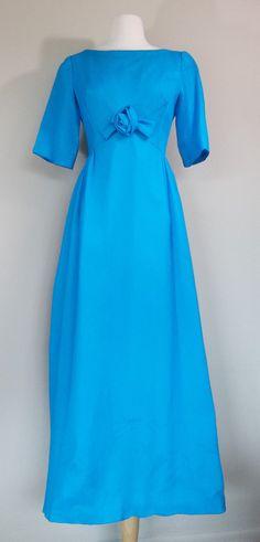 Vintage 60's blue chiffon prom dress small by DottieMaeVintage
