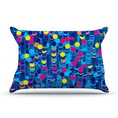 East Urban Home Frederic Levy-Hadida 'Color Hiving' Abstract Pillow Case Color: Navy Blue