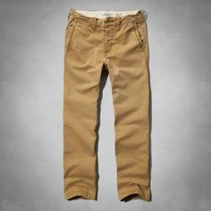 Mens A&F Classic Chinos | Mens Pants | Abercrombie.co.uk