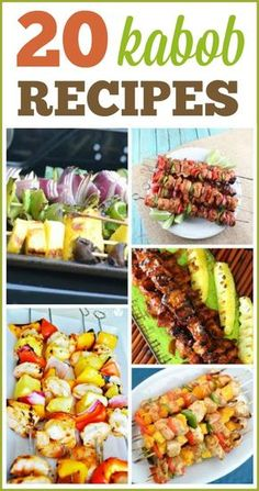 20 Kabob Recipes 20 Delicious Kabob & Grilling Recipes More from my site This Greek Kabob marinade is delicious, healthy, and family approved. We love this healthy beef kabob recipe year round. Kabob Recipes, Grilling Recipes, Cooking Recipes, Healthy Recipes, Healthy Grilling, Jucing Recipes, Coctails Recipes, Dishes Recipes, Gastronomia