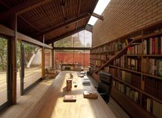 Completed in 2016 in Granja Viana, Brazil. Images by Dalton Bertini Ruas . The design of this private library has started from a requisite of space from a bibliophile: to organize and expose a collection of books previously...