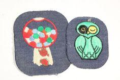 wonderful vintage 1960's hippie jeans patches