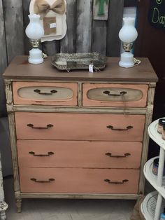 Audra Martin from Southern Uniques and Antiques uses mud puddle, apricot and drop cloth...Dixie Belle Paint