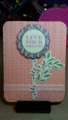 Card by Claire Morrison: Simple, Live Your Dreams