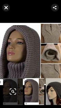 Crochet Hooded Cowl, Chunky Crochet Scarf, Crochet Baby Cardigan, Crochet Beanie, Knit Crochet, Crochet Hats, Baby Boy Knitting Patterns, Baby Sweater Knitting Pattern, Crochet Pattern Free