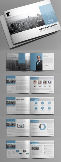 Creative Annual Report 2017 Brochure Template Design Layouts - landscape brochure