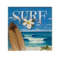 Hawaii Ceramic Coasters 4 Pack Kelly Lane Surf by KC. $20.49. Hawaiian Home Accessories add a wonderful tropical touch to your home or office!. Kelly Lane Surf Collection - Coasters - Set of 4. Measures 3.5 in. x 3.5 in. Item #91049 KC