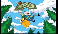 Jake Finn Riding on a dollar with the evil snail