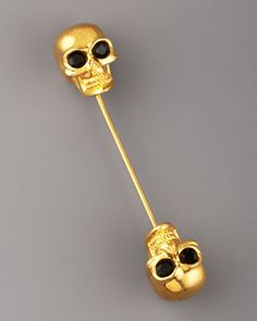 Double-Skull Scarf Pin by Alexander McQueen at Neiman Marcus.