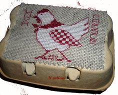 2012-01-07  ad un'amica che alleva galline bisogna regalare una gallina.......schema di Marjorie Massey