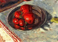 Tomatoes, c.1924 (oil on paper laid down on canvas) / Pierre Bonnard