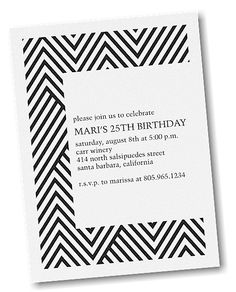 Modern Chevron Party Invitation