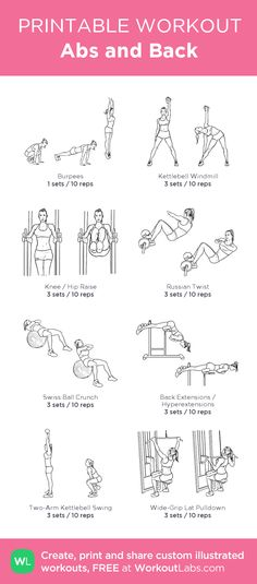 Abs and Back: my custom printable workout by @WorkoutLabs #workoutlabs #customworkout
