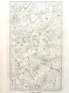 Wonderful antique constellation chart print by LyraNebulaPrints, $22.00