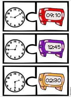 Heure: Cette ressource sur l'heure contient plusieurs activités et pages imprimables. Elle permet aux élèves de pratiquer l'heure par bonds de 5 minutes.