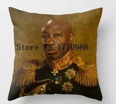 Luxury Michael Clarke Duncan - replaceface Square Zippered Throw Pillowcase Beauty Decorative Twin Side Printed #Affiliate