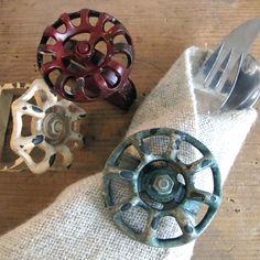 Vintage Valve Handles Vintage Industrial Valve Knobs Set of 3 Water Tap Handles Industrial Decor Loft Decor Steampunk Elements Water Spigot