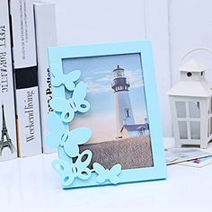 Creative butterfly photo frame TOOL GADGET elegant style picture frames 15 x 20 cm blue -- Read more  at the image link. (Note:Amazon affiliate link) #HomeGadgets
