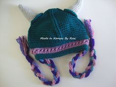 Crocheted Viking Hat from facebook Made In Kansas By Rosi