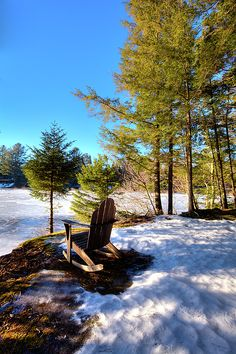 A beautiful place to view winter on the Moose River in Old Forge, New York. #ADK #ADKchair