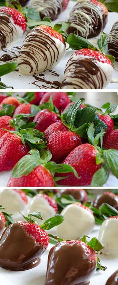 Chocolate Covered Strawberries | Click Pic for 20 Easy Valentine Desserts for Two | Easy Romantic Dessert Recipes for Valentines
