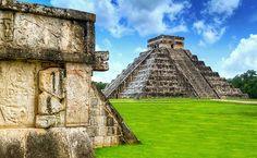 Es el Mayan Metropolis en Chichén Itzá. Son unas structures como  El Castillo también Caracol.