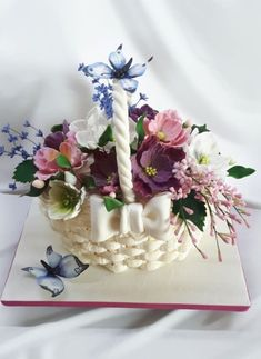 basket of flowers - cake by Kaliss
