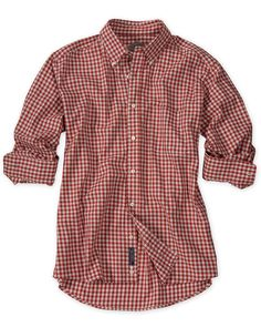 Bills Khakis - Long Sleeve Heathered Gingham Shirt in Harvest