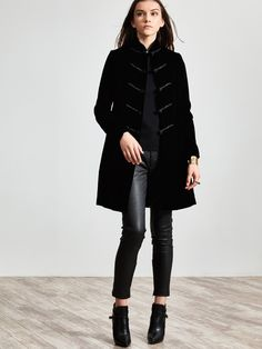 Sumptuous black velvet always feels special, and it looks particularly splendid in this jacket inspired by traditional Chinese attire. The frog button fastenings have timeless elegance.  Colour(s): available in Black Ref: 1RA01A2