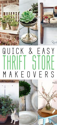 Quick and Easy Thrift Store Makeovers - The Cottage Market