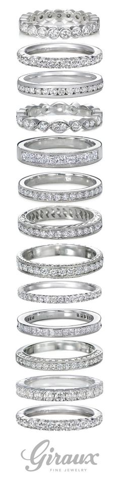 Diamond Ladies Wedding Bands come in so many shapes and styles. Giraux Fine Jewelry is happy to help you find the perfect ring to celebrate your big day.