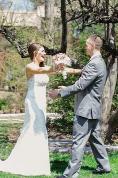 First look. Photo from Taryn + Dan collection by Jordan DeNike Photography