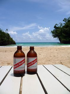 Please do enjoy the world famous Red Stripe beer at Frenchman's Cove, Jamaica